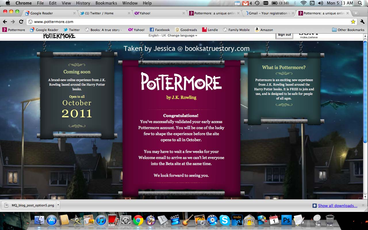 Pottermore Early Registration Ends