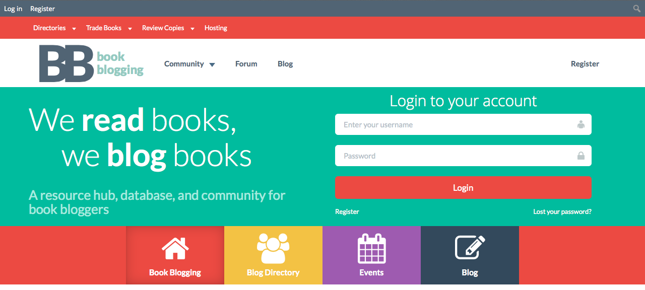 New Book Blogging Community