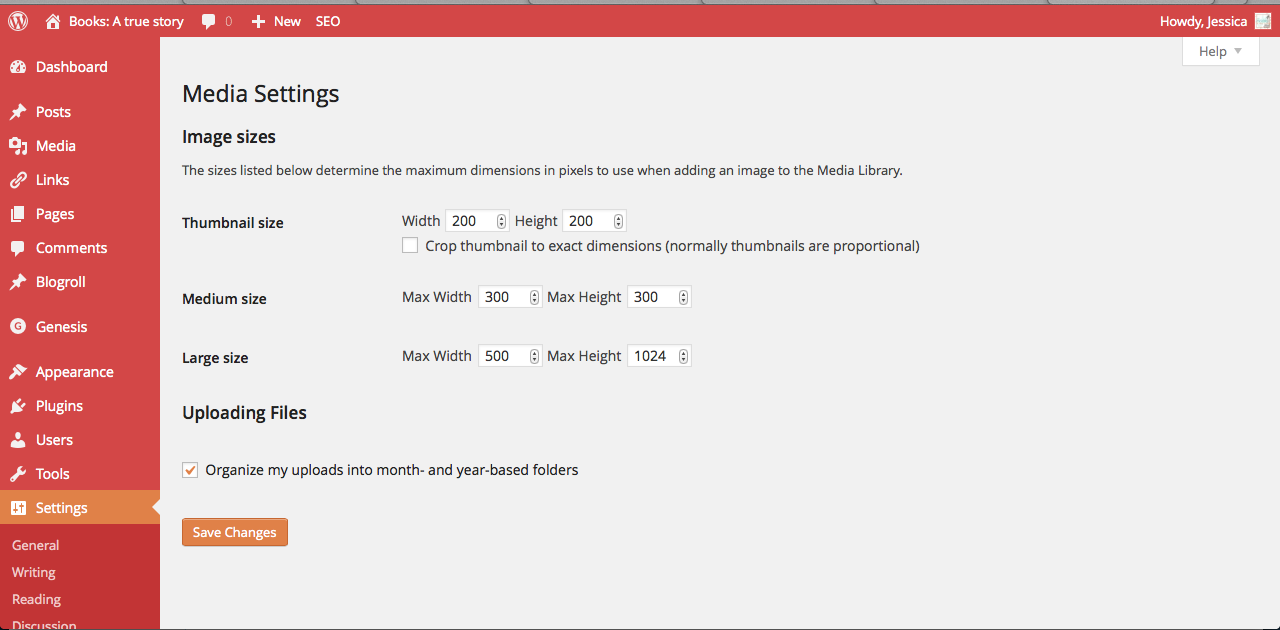 I Figured Out How To Use Media Settings on WordPress