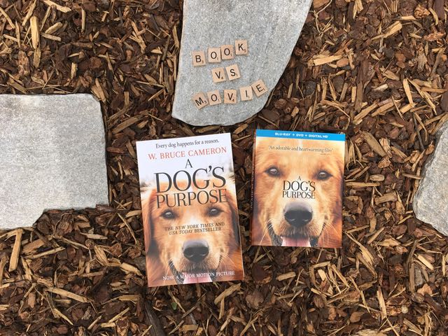 Book vs. Movie: A Dog's Purpose #ADogsPurposeMovie